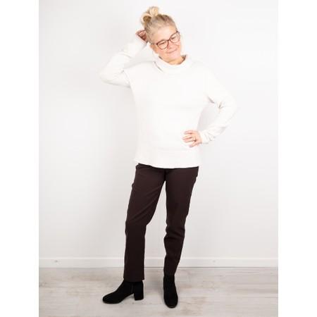 Amazing Woman  Fara Cowl Neck Contrast Rib Hem Knit Jumper - White