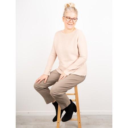 Amazing Woman  Fiona Round Neck Raglan Sleeve Rib Knit Jumper - Beige