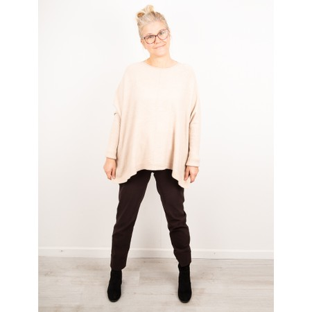 Amazing Woman Faith Front Seam Oversized Knit - Beige