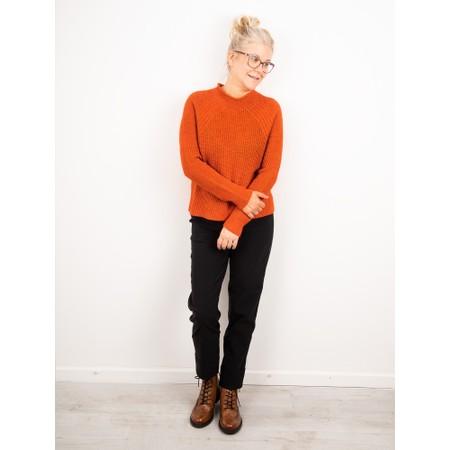 Amazing Woman  Fran Roll Neck Contrast Rib Knit - Orange