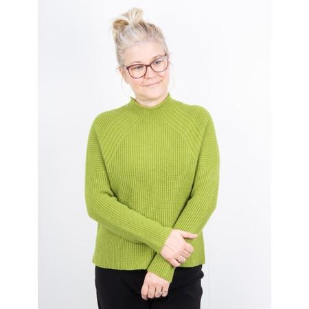 Amazing Woman  Fran Roll Neck Contrast Rib Knit - Green