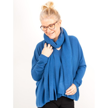 Amazing Woman Clarrie V Neck Boxy Supersoft Fine Knit - Blue