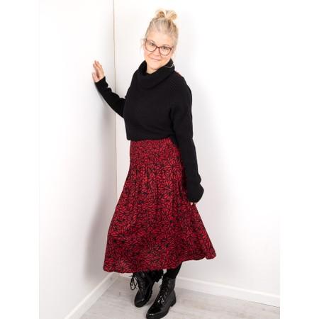 Amazing Woman  Fliss Roll Neck Raglan Sleeve Ribbed Knit - Black