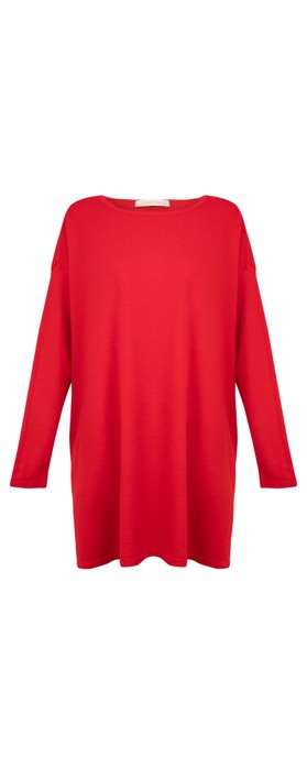 Amazing Woman Wells Round Neck Slouch Knit Red