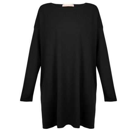 Amazing Woman  Wells Round Neck Slouch Knit - Black