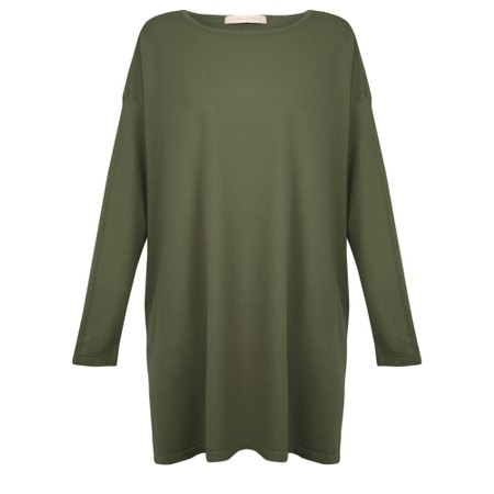 Amazing Woman Wells Round Neck Slouch Knit - Green