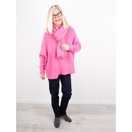 Amazing Woman  Chlobo Vertical Ribbed Scarf - Pink