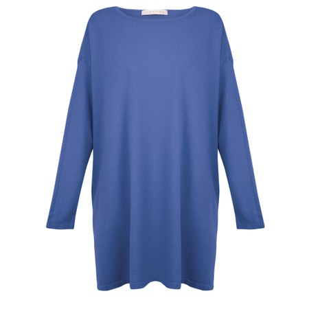 Amazing Woman Wells Round Neck Slouch Knit - Blue