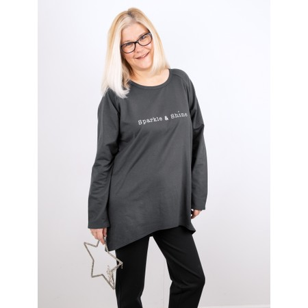 Chalk Robyn Sparkle and Shine Top - Grey