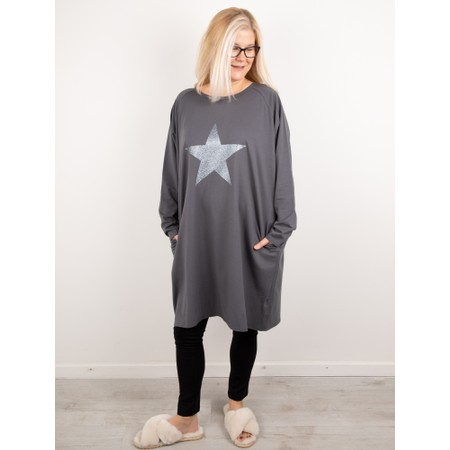 Chalk Brody Star Dress - Grey