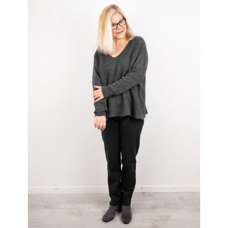 Amazing Woman  Cadee V Neck Oversized Cosy Knit - Black