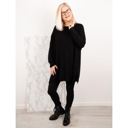 Amazing Woman  Cassi Round Neck Front Seam Knit - Black