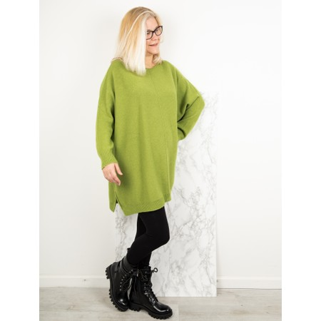 Amazing Woman  Cassi Round Neck Front Seam Knit - Green