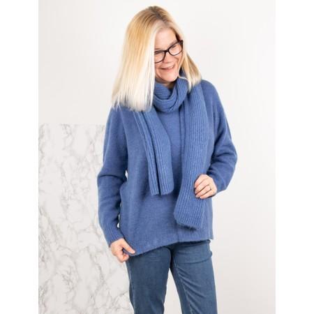 Amazing Woman  Chlobo Vertical Ribbed Scarf - Blue