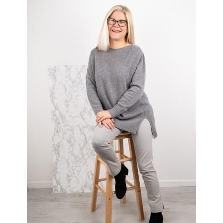 Amazing Woman  Fillipa Round Neck Cashmere Mix Knit - Blue