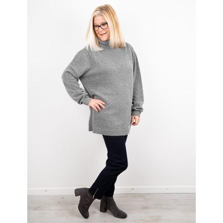 Amazing Woman  Farren Roll Neck Cashmere Mix Knit - Blue