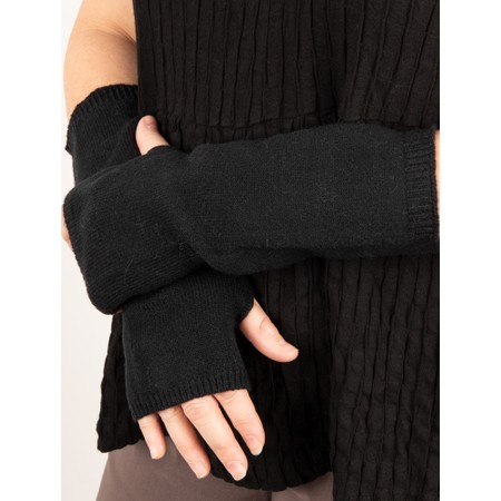 Chalk Angela Fingerless Glove / Wrist Warmer  - Black