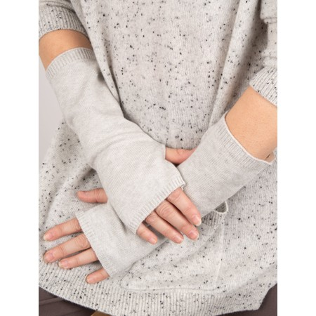 Chalk Angela Fingerless Glove / Wrist Warmer  - Metallic