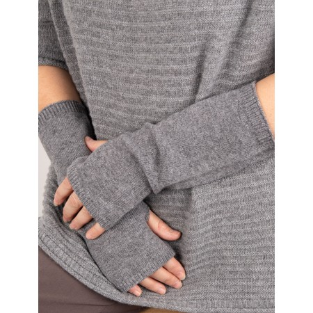 Chalk Angela Fingerless Glove / Wrist Warmer  - Black