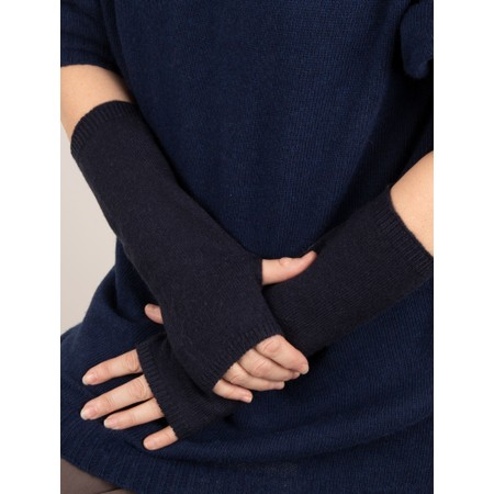 Chalk Angela Fingerless Glove / Wrist Warmer  - Blue