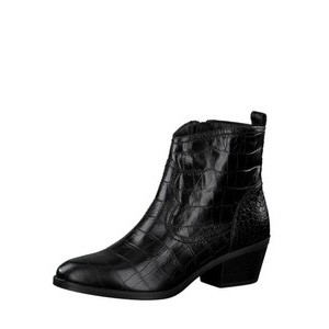 West Croc Print Leather Gaucho Boot main image