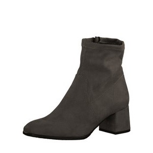 Tamaris  Nadda Stretch Ankle Boot Block Heel - Grey