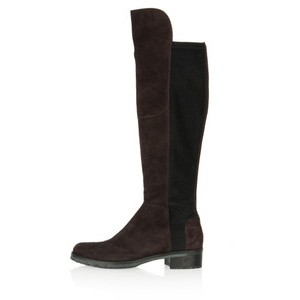Kennel Und Schmenger Blues Suede Long Flat Boot - Brown