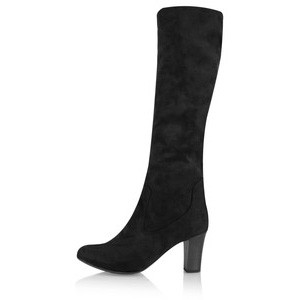 Caprice Footwear Britt Stretch Faux Suede Long Boot - Black