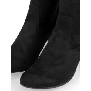 Caprice Footwear Britt Stretch Faux Suede Long Boot Black