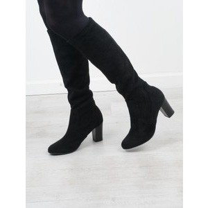 Britt Stretch Faux Suede Long Boot main image