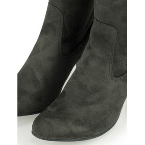 Caprice Footwear Britt Stretch Faux Suede Long Boot - Grey