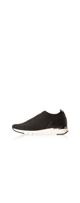 Caprice Footwear KajaFlu Low Top Sock Trainer  Black