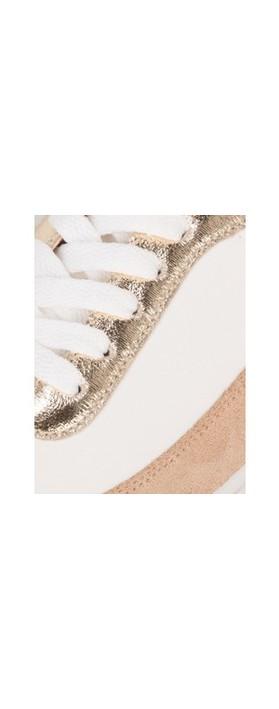 Vanessa Wu Chrissy Trainer White / Gold / Sparkle