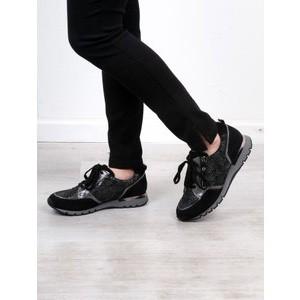 Caprice Footwear Comfort Trainer Shoe  Black Combi