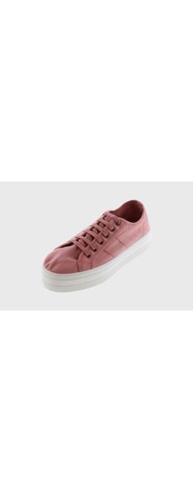 Victoria Shoes Barcelona Organic Cotton Washable Flatform Trainer Shoe  Pink - Nude 170