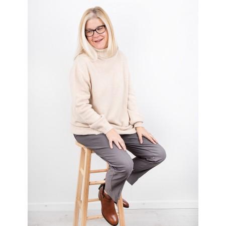 Amazing Woman Farren Roll Neck Cashmere Mix Knit - Beige