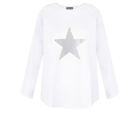 Chalk Tasha Star Top - White