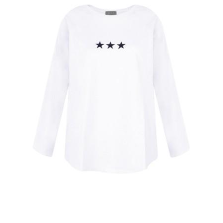 Chalk Gemini Exclusive ! Tasha Triple Star Top - White