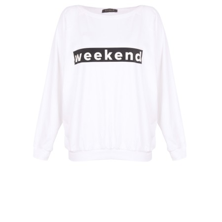 Chalk Holly Weekend Top - White