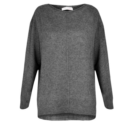 Amazing Woman  Maggie Seam Front Supersoft Jumper - Black