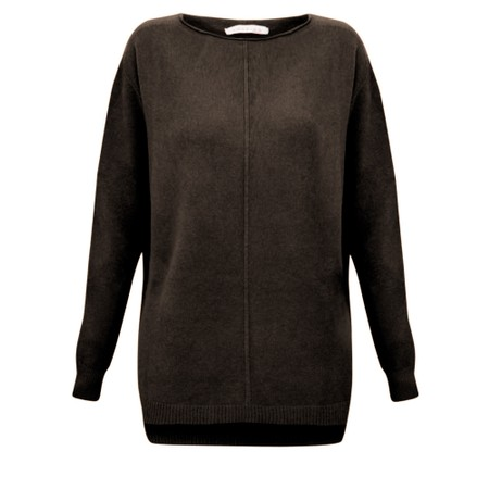 Amazing Woman  Maggie Seam Front Supersoft Jumper - Brown