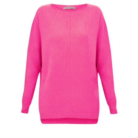 Amazing Woman Maggie Seam Front Supersoft Jumper - Pink