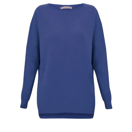 Amazing Woman  Maggie Seam Front Supersoft Jumper - Blue