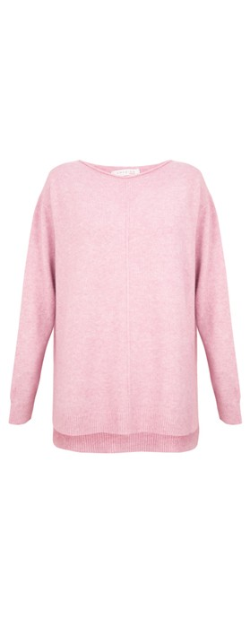 Amazing Woman Maggie Seam Front Supersoft Jumper Rose Pink