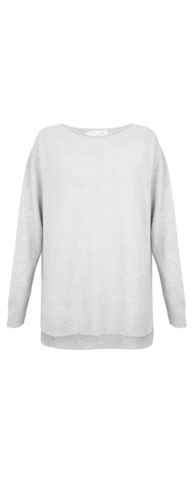 Amazing Woman Maggie Seam Front Supersoft Jumper Silver