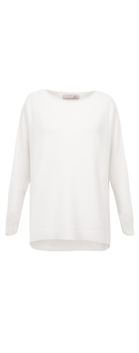Amazing Woman Maggie Seam Front Supersoft Jumper White