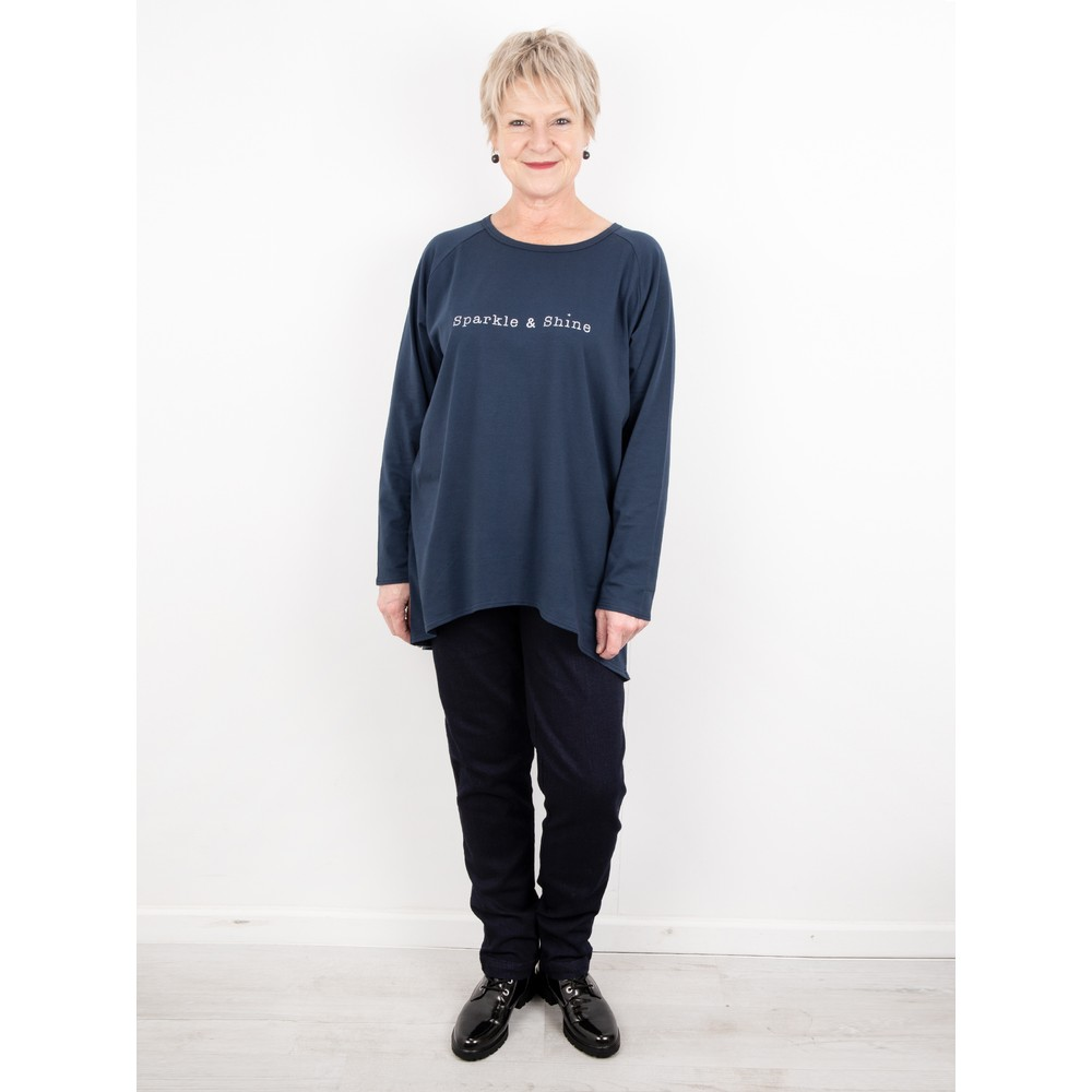 Chalk Robyn Sparkle and Shine Top Navy / Silver Glitter