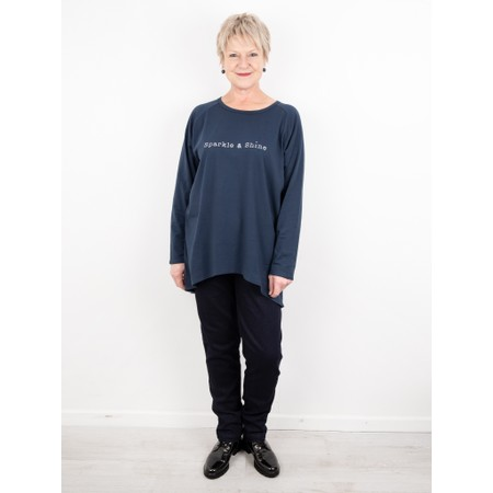 Chalk Robyn Sparkle and Shine Top - Blue