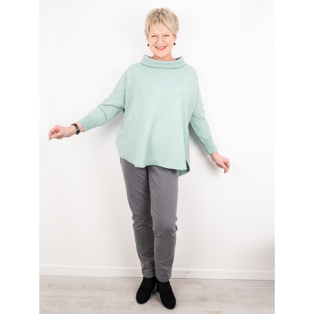 Amazing Woman Vera Oversized Knit Jumper Seafoam Green