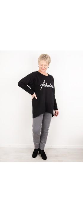 Chalk Robyn Fabulous Top Black / Silver Glitter